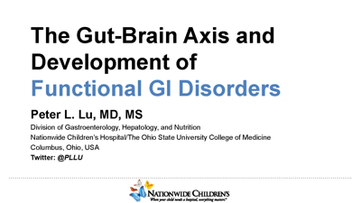 The Gut-Brain Axis and Development of Functional GI Disorders